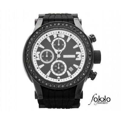 Joe Rodeo horloge zwarte diamanten