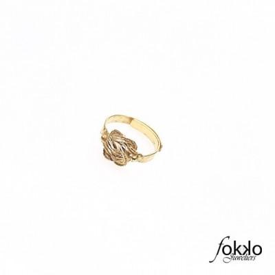 Gouden Surinaamse mattenklopper ring baby