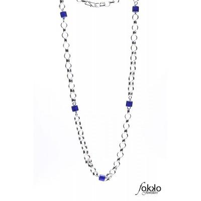Surinaamse boto keti met blauwe kralen   Surinaamse juwelier