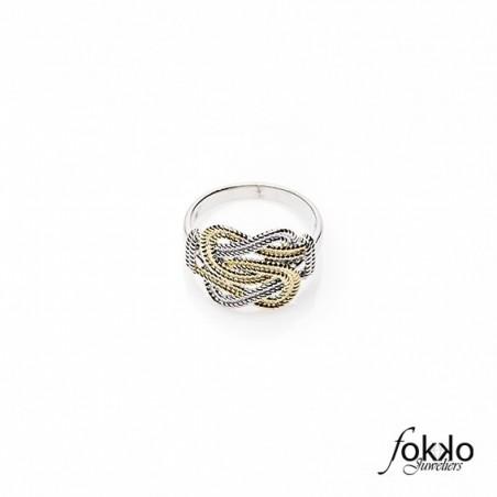 Gouden mattenklopper ring | Fokko Design