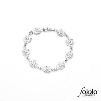Mattenklopper armband met Swarovski kristallen