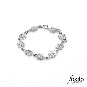 Zilveren mattenklopper armband | Fokko Design