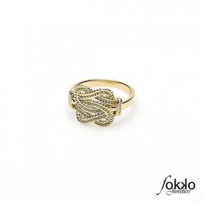 Gouden mattenklopper ring | Fokko Design | Fokko Juweliers