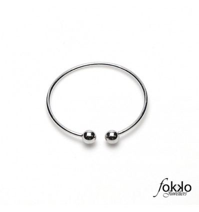 Zilveren slavenarmband | Fokko Design