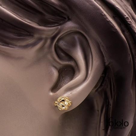 Mattenklopper oorbellen   Surinaams goud