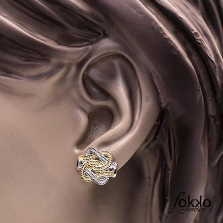Zilveren mattenklopper oorbellen
