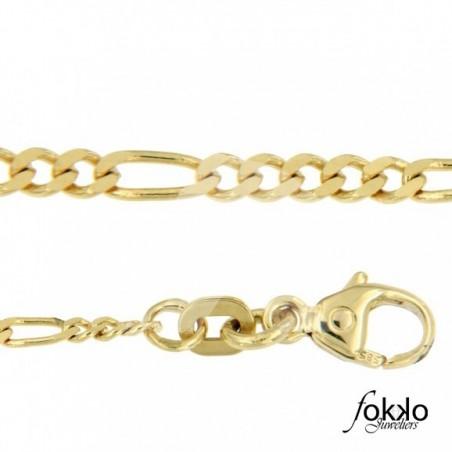 Gouden figaro ketting| Gouden Surinaamse ketting| Surinaams goud