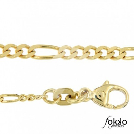 Gouden figaro ketting  Gouden Surinaamse ketting  Surinaams goud