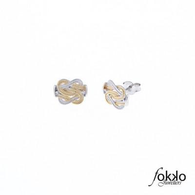 Mattenklopper oorbellen zilver goud | bi color oorbellen | Surinaamse oorbellen