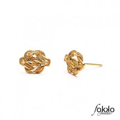 Gouden Surinaamse mattenklopper oorbellen