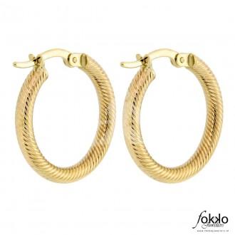 Gouden creoolse oorbellen - 1