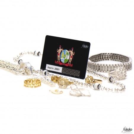 Cadeaubon Fokko Juweliers | Cadeaubon Surinaamse sieraden