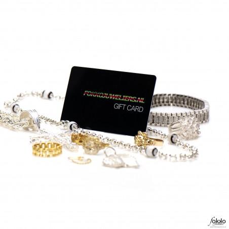 Cadeaukaart Surinaamse sieraden | cadeau Suriname | kado Suriname | Giftcard Suriname | Gift card sieraden