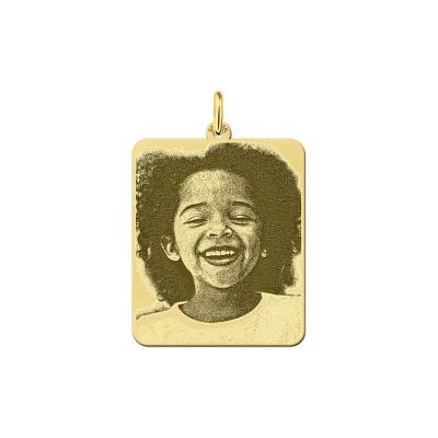 Gouden fotosieraad | Gouden hanger met foto | Surinaams goud