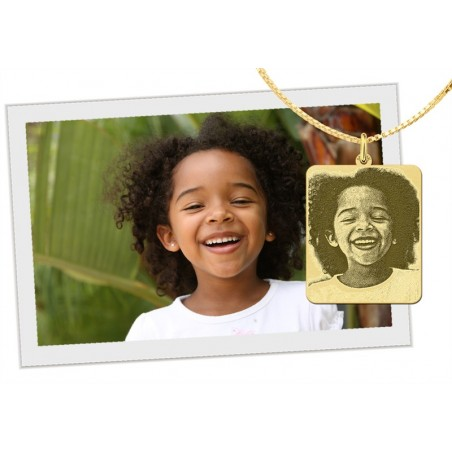 Exclusieve gouden foto hanger | Gouden hanger van kind