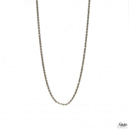 Zilveren rope chain   Rope chain   Tara te ketting