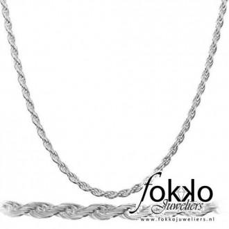 Zilveren koord ketting | Zilveren damesketting | Zilveren kinderketting