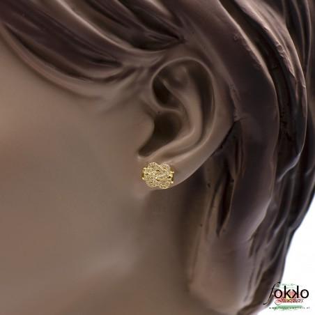 Gouden mattenklopper oorbellen | Surinaamse juwelier | Surinaamse oorbellen