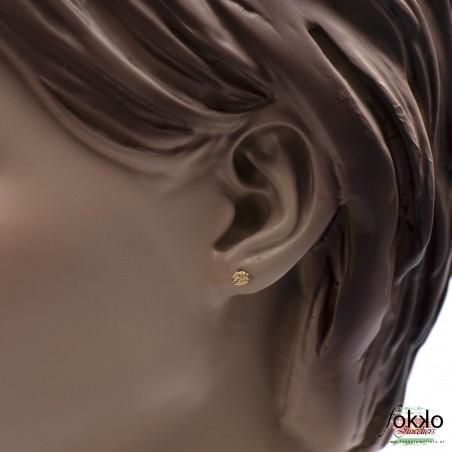 Gouden mattenklopper oorbellen | Surinaams goud