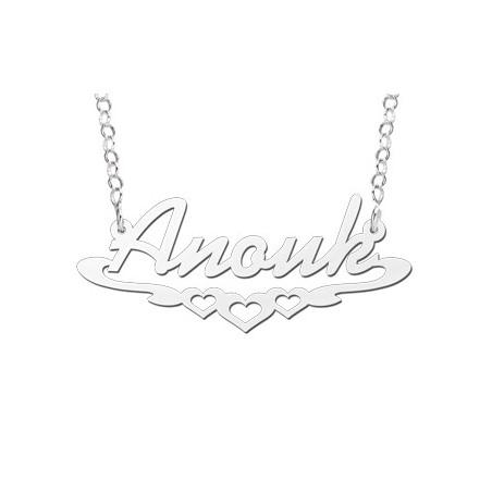 Zilveren naamketting | Naam ketting