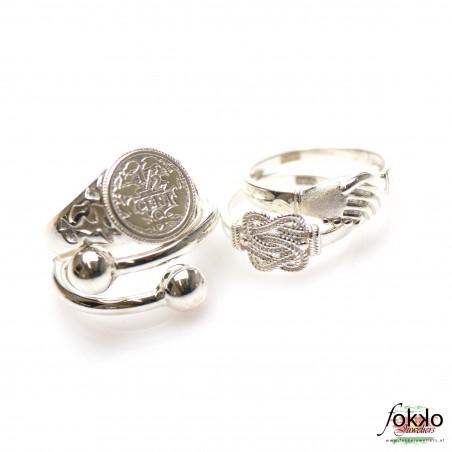 Kleine mattenklopper ring   Zilveren mattenklopper ring