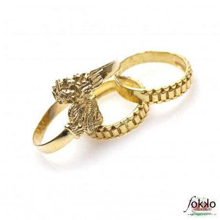 Gouden rolex sieraden   Rolex ring   Gouden rolex schakel ring