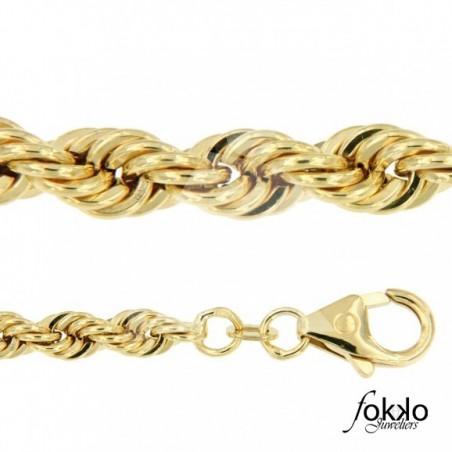 Surinaamse bracelet | Rope chain Surinaams goud