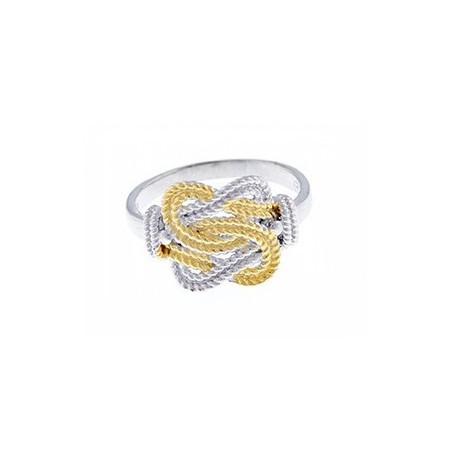 Gouden mattenklopper ring | Fokko Design | Zilver gouden mattenklopper ring