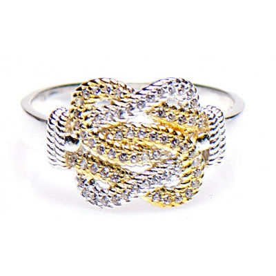 Mattenklopper ring zilver goud   Surinaamse mattenklopper ring   Mattenklopper swarovski