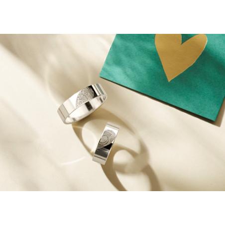 ring vingerafdruk | vingerafdruk sieraden