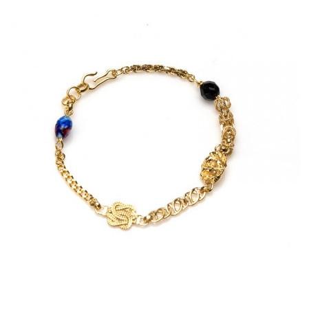 Gouden Surinaamse ala kondre armband | Surinaamse sieraden