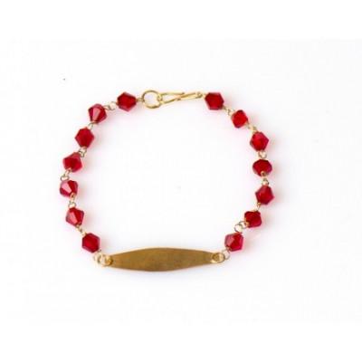 Gouden Surinaamse babyarmband   Surinaamse armband baby   Surinaamse kralen armband