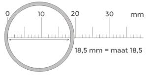Ringmaat berekenen Surinaamse ring